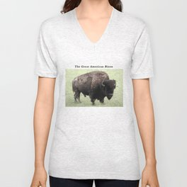 The Great American Bison Unisex V-Neck