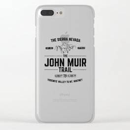 The John Muir Trail JMT for Thru-Hikers Clear iPhone Case