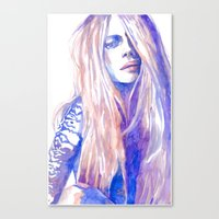 cara Canvas Prints featuring Cara by Ava Carmen