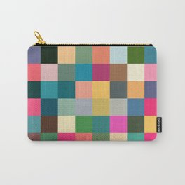 Multicolor Pixel Tiles Art - Kumulipo Carry-All Pouch