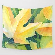 Bright leaf study Wall Tapestry