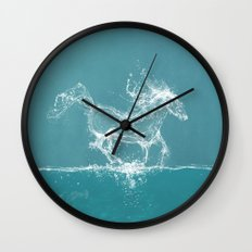 The Water Horse Wall Clock
