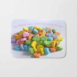 My Heart Spills over with Love for You Bath Mat