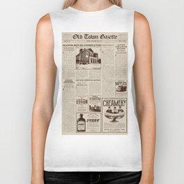Vintage Newspaper Biker Tank