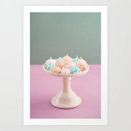 Mini meringue kisses Art Print