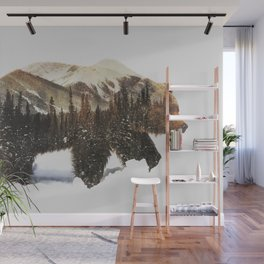 Arctic Grizzly Bear Wall Mural