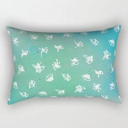 Seafoam Grafitti Rectangular Pillow