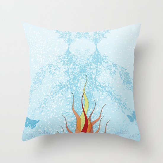 ice queen Throw Pillow by Eyejacker Society6