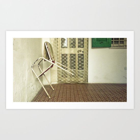 Lonely Chairs #5 Art Print