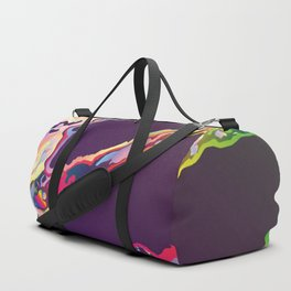 Abstract Gasoline On Water Duffle Bag