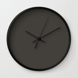 Black Ink Wall Clock
