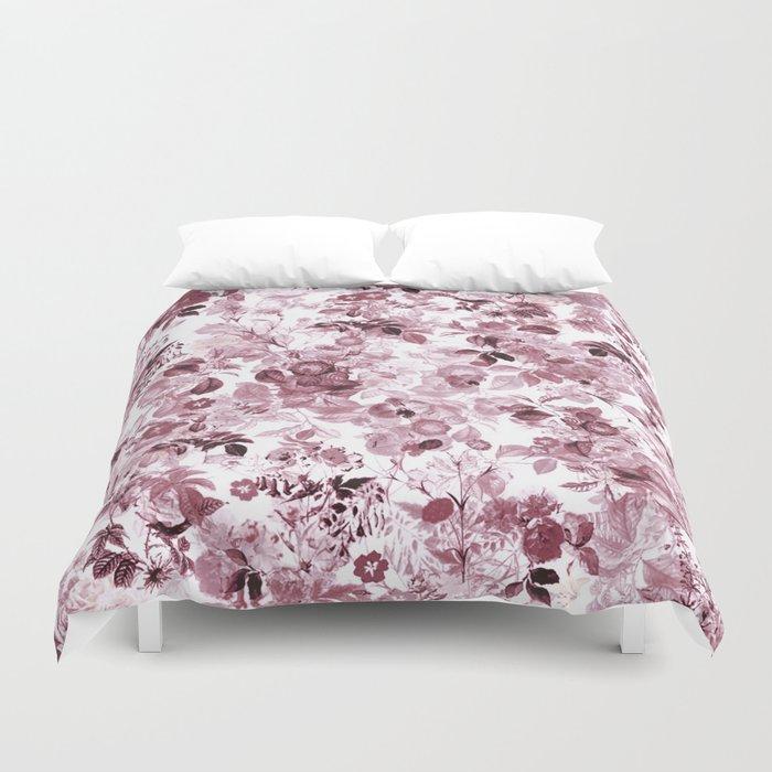 fleuri en rose Duvet Cover