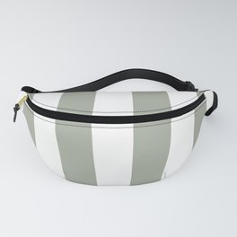 Desert Sage Grey Green Circus Tent Stripe Fanny Pack