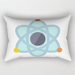 Atom Icon Rectangular Pillow
