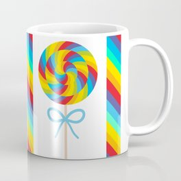 candy lollipop with bow, colorful spiral candy cane Coffee Mug