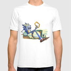 Sonic Mens Fitted Tee White MEDIUM