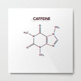 Caffeine 3D Anaglyph Metal Print