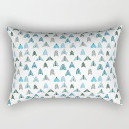 Blue Moth Rectangular Pillow