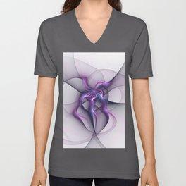 Abstract Angel Fractal Art Unisex V-Neck