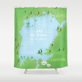 Lake Victoria Map Shower Curtain