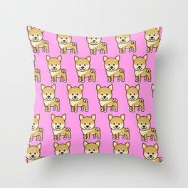 Dog Lover Gift for Kids shiba inu Throw Pillow