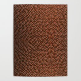 Football / Basketball Leather Texture Skin Poster