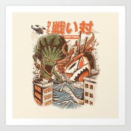 Kaiju Food Fight Art Print
