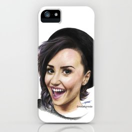 Demi Coloured Pencil Drawing iPhone Case