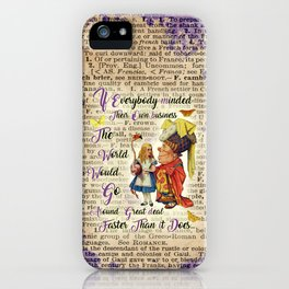 Alice with The Duchess Vintage Dictionary Art iPhone Case
