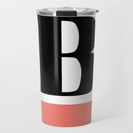 Monogram Letter B-Pantone-Peach Echo Travel Mug