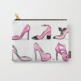 Pink Shoes Carry-All Pouch