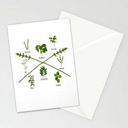 Botanical Herbs Herbalist Gift Garden Birthday Stationery Cards