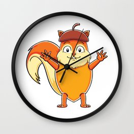 Cute Animal Squirrel Wall Clock