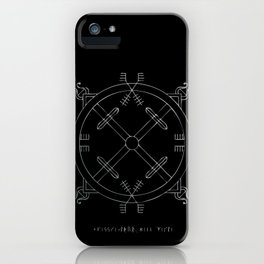 Shield of Terror Stave iPhone Case