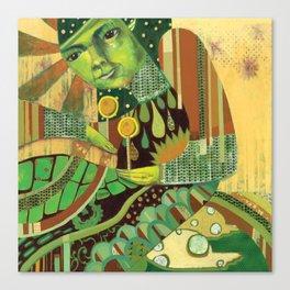 Green Music Canvas Print