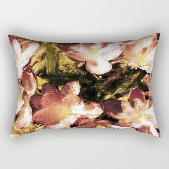 Painterly Vintage Crocus Rectangular Pillow