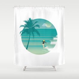 Toes to the nose Shower Curtain