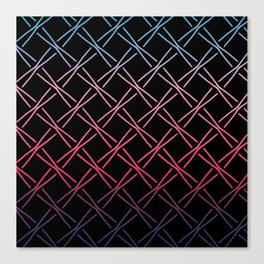 Fences Abstract Ombre Canvas Print