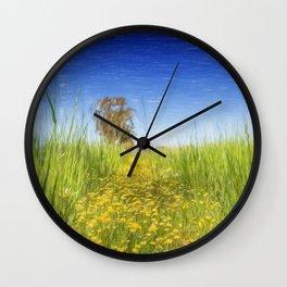 Summer Meadow Wall Clock
