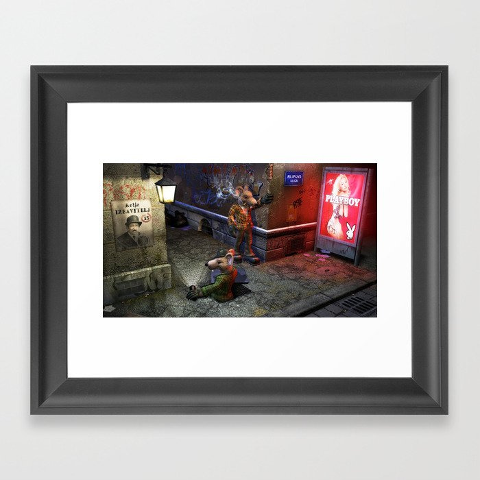 Izbavitelj - The Rat Saviour Framed Art Print