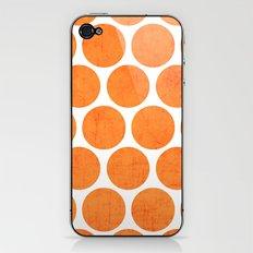orange polka dots iPhone & iPod Skin