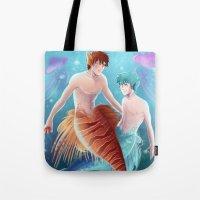 kuroko Tote Bags featuring Kagami & Kuroko by kvei
