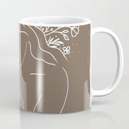 Mother & Baby - Floral Line Art 2 Coffee Mug