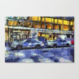 New York police Department Van Gogh Canvas Print