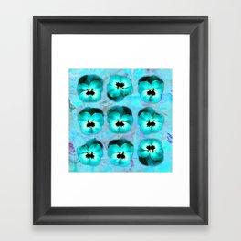 9 turquoise on light blue and violet Framed Art Print