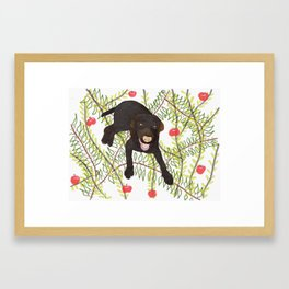 Labrador Retriver Chocolate Framed Art Print