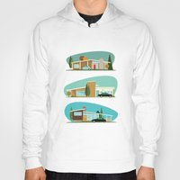 hollywood Hoodies featuring Hollywood Bungalows by Hand Drawn Creative