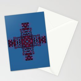 She's Abundantly Blessed Cross on Blue Stationery Cards