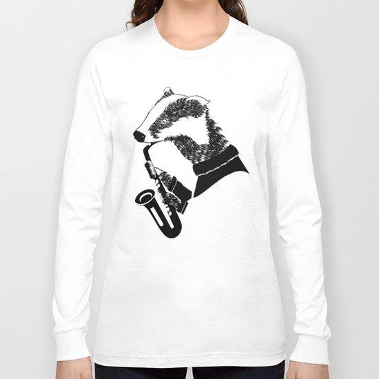 Badger Saxophone Long Sleeve T-shirt