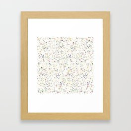 Classy vintage marble terrazzo pastel abstract design Framed Art Print